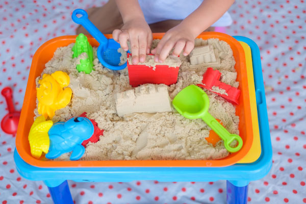 Children's Play Therapy using a sand tray